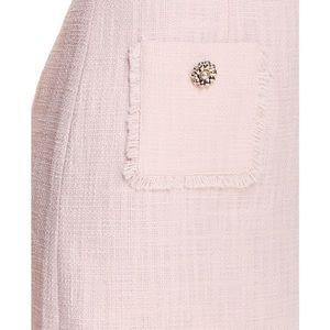 Karl Lagerfeld Dresses - Karl Lagerfeld Paris Rose Tonal Tweed Pocket Dress